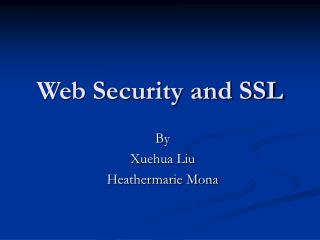 Web Security and SSL