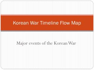 Korean War Timeline Flow Map