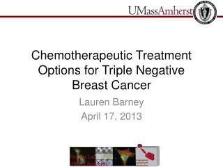 Chemotherapeutic Treatment Options for Triple Negative Breast Cancer