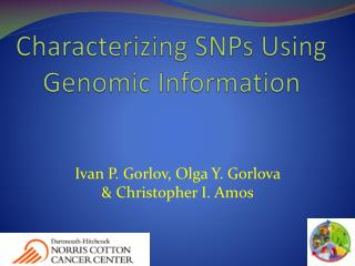 Characterizing SNPs Using Genomic Information