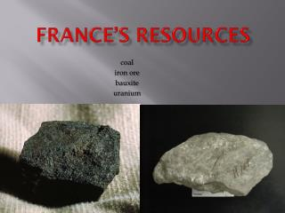 France's Resources