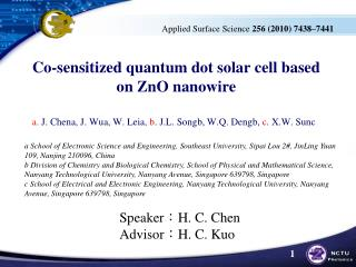 quantum dot sensitized solar cells thesis On sep 22, 2016, alexandra szemjonov published a research thesis starting with the following thesis statement: a mixed theoretical/experimental approach was used to analyze the semiconductor components of quantum dot sensitized solar cells and the.