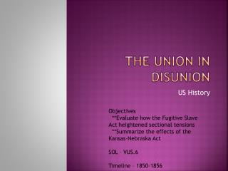 The Union in Disunion