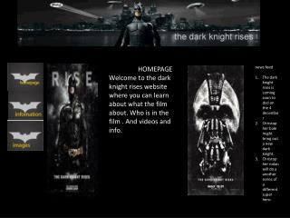 news feed  The dark knight rises is coming soon to  dvd  on the 4  december