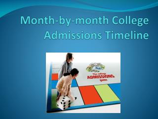 Month-by-month College Admissions Timeline