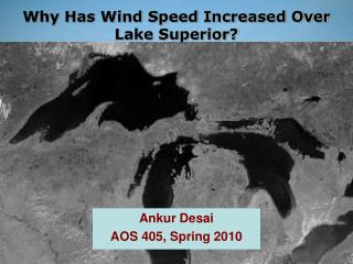 Why  Has Wind Speed  Increased Over Lake Superior?