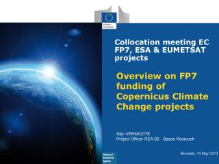 Overview  on FP7  funding  of  Copernicus Climate  Change  projects