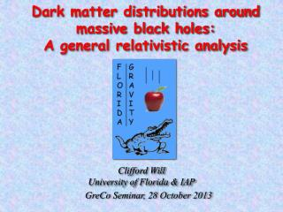 Dark matter distributions around  massive black holes:  A general relativistic analysis