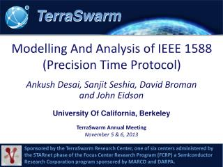 Modelling And Analysis of IEEE 1588 ( Precision Time Protocol)