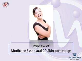 Preview of  Modicare Essensual 20 Skin care range