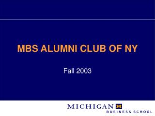 MBS ALUMNI CLUB OF NY