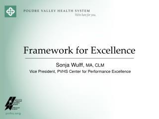 Framework for Excellence