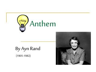 anthem by amy rand essay