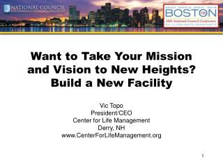 Want to Take Your Mission and Vision to New Heights?  Build a New Facility