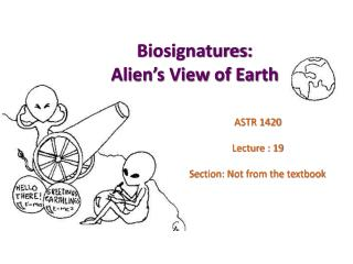 Biosignatures : Alien's View of Earth