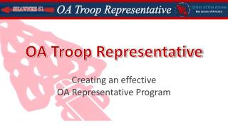 OA Troop Representative