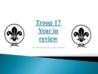 Troop 17 Year in review