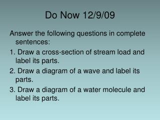 Do Now 12/9/09