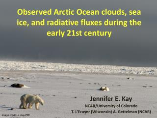 Observed Arctic Ocean clouds, sea ice, and  radiative  fluxes during the early 21st century