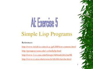 AI: Exercise 5
