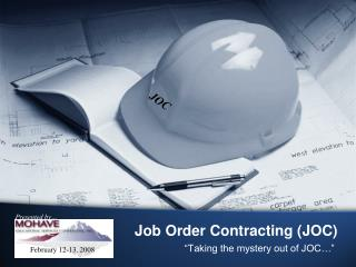 Job Order Contracting (JOC)