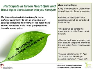 Participate  in  Green Heart Quiz and