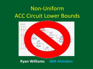 Non-Uniform  ACC Circuit Lower Bounds