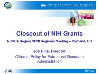 Closeout of NIH Grants