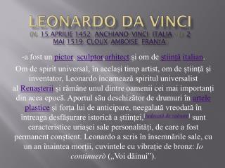 - a fost un pictor , sculptor , arhitect și om de știință italian .