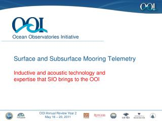 Surface and Subsurface Mooring Telemetry