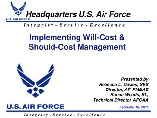 Implementing  Will-Cost  &  Should-Cost Management
