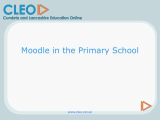 Moodle in the Primary School