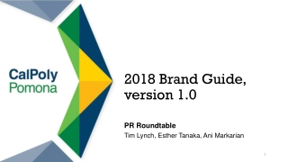 2018 Brand Guide, version 1.0