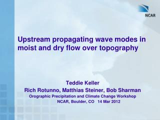 Upstream propagating wave modes in moist and dry flow over topography