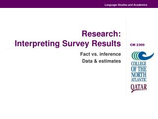 Research: Interpreting Survey Results