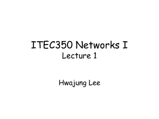ITEC350 Networks I Lecture 1