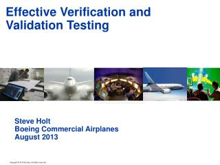 Effective Verification and Validation Testing