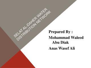 Selat al- daher water distribution network