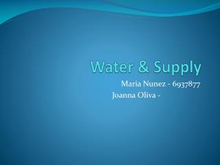 Water & Supply