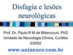Disfagia e les es neurol gicas