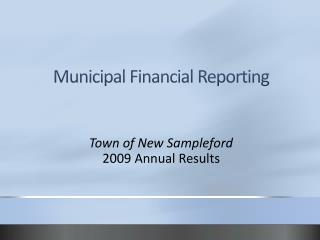 Municipal Financial Reporting