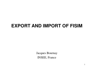 EXPORT AND IMPORT OF FISIM