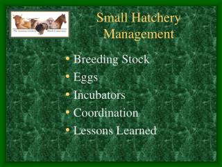 Small Hatchery Management