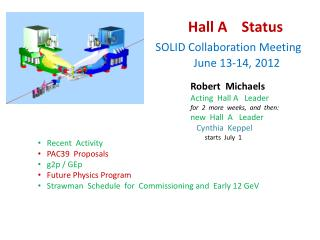 Hall A    Status SOLID Collaboration Meeting                 June 13-14, 2012