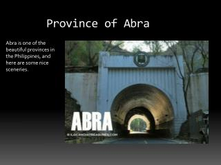 Province of Abra