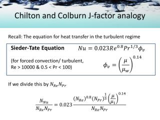 Chilton and Colburn J-factor analogy
