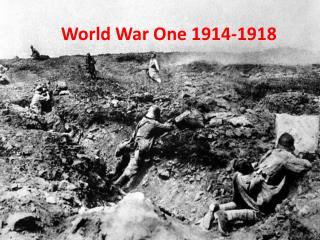 World War One 1914-1918