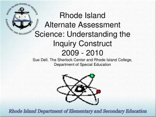Agenda for Science RIAA Science Model Inquiry Construct Table