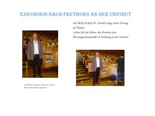 Exkursion nach  Freyburg  an der Unstrut