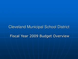 Cleveland Municipal School District
